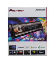 Auto Radio receiver Mp3 Pioneer Mvh-x3000br Flashing Light Bluetooth saída sub controle remoto -