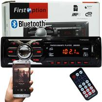 Auto Rádio Som Mp3 Player Automotivo Carro Bluetooth First Option 6660BSC Fm Sd Usb Controle -