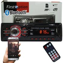 Auto Rádio Som Mp3 Player Automotivo Carro Bluetooth Fm Sd Usb Controle - First option