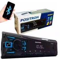 Auto radio universal automotivo positron com bluetooth usb sp2230bt
