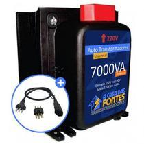 Auto Transformador 7000VA 110 para 220 e/ou 220 para 110 Tomadas - Casa Das Fontes