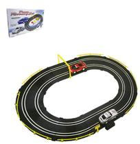 Autorama pista power racing set carro com luz a pilha - Wellmix