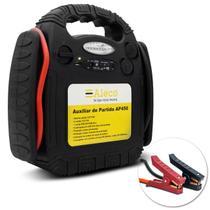 Auxiliador de Partida AP450 7 LEDs 110V 220V USB Recarrega Bateria Com Cabo de Chupeta Aleco -