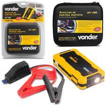 Auxiliar de Partida Portátil 12V Carro Moto Barco Bivolt USB Carregador Bateria LED Vonder APV13000 -