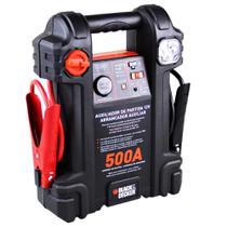 Auxiliar partida 500a 12v luz emergência bivolt js500s black decker -
