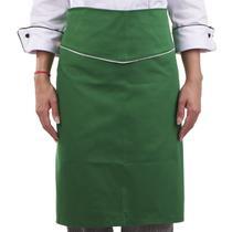 f37e110911f87 Avental de Cozinheiro Meio Corpo Verde Vegano Chef Restaurante
