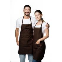 Avental profissional de Algodão cor Marrom - Feito no Brasil - Utensilios do Chef