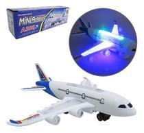 Aviao Bate E Volta Miniairbus A380 Com Som E Luz A Pilha Na - Oem
