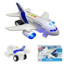 Avião Comercial Sonoro Infantil de Brinquedo Mega City BBR TOYS -
