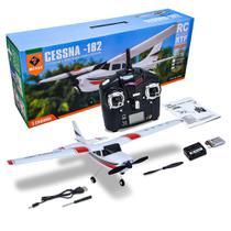 Avião de controle remoto aeromodelo cessna 182 wl toys f949 -