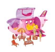Avião fashion c/ acessórios 19pç 30cm 7813 - Esm