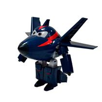 Avião Super Wings - 12 cm - Agent Chace - Intek - Intek toy
