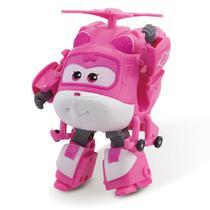 Avião Super Wings - 12 cm - Dizzy ChangeEm Up - Intek - Intek toy