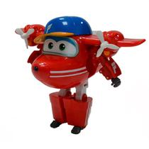 Avião Super Wings - 12 cm - Flip - Intek - Intek toy