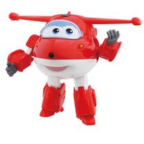 Avião Super Wings - 12 cm - Jett ChangeEm Up - Intek - Intek toy