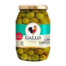 Azeitona Verde Gallo com Caroço 500g -
