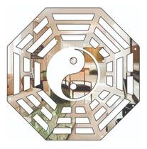 Ba Gua Decorativo Acrílico Espelhado 35x35 Cm - ArtPlacas