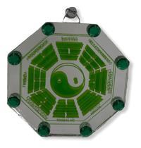 Ba-guá Símbolo Yin Yang De Vidro Espelhado Cor Verde - Invicto