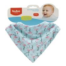 Babador Bandana Bebê Flamingo Buba -