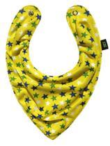 Babador Bandana Estrelado Amarelo - Gumii -