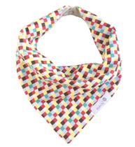 Babador bandana quadrados coloridos - Dudsbb