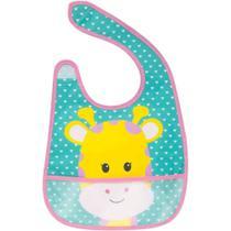 Babador com bolso animal fun girafa - buba -