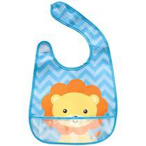 Babador com bolso animal fun leão ref.9826 - buba -