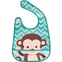 Babador com bolso Animal Fun - Macaco buba -