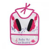 Babador Decorado - 1 Unid. - Baby Go Fun - Baby DJ - Babygo