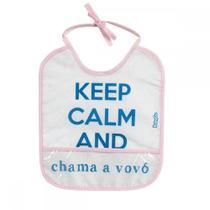 Babador Decorado - 1 Unid. - Baby Go - Fun - Keep Calm and chama a vovó - Babygo