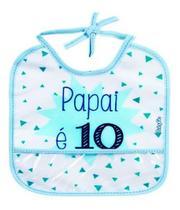 Babador Decorado  Babygo  Fun  Papai É 10 (2 Unid) -