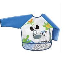 Babador Infantil Com Mangas Azul Buba -
