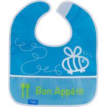 Babador Infantil Comtac Plus - com Bolso - Abelhinha Blue -