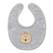 Babador Urso Impermeável Cinza - Batistela Baby