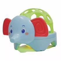 Baby Animal Com Luz Elefante Azul - Buba -