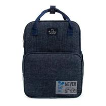 Baby Bag Mini Mochila Maternidade C/ Trocador Disney Mickey Azul 1448 -