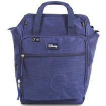 Baby Bag Mochila Maternidade Mickey Mouse Azul c/ Trocador Disney -