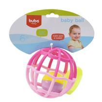 Baby Ball Luz e Som Buba Baby Rosa 6m+ - 5848 -