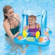 Baby Bote Kiddie Com Cobertura Boia Inflável Azul Intex -