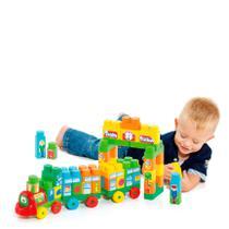 Baby Land Trenzinho Didático 70 Peças com blocos Educativo - Cardoso Toys