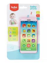 Baby Phone Bebê Rosa (12m+) Buba - Buba toys