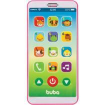 Baby phone - celular infantil com som - rosa - buba -