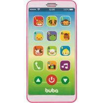 Baby Phone Celular para Bebê Telefone com Sons e Músicas Infantil Rosa Buba -