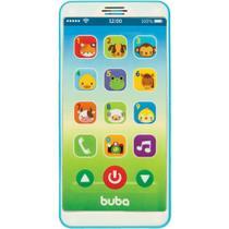 Baby Phone Telefone Bebê Celular Musical Buba Azul -