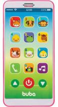 Baby Phone Telefone Bebê Celular Musical Buba Rosa -