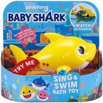 baby shark Tubarão robô musical canta e nada - Candide -