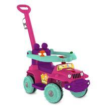 Babyjipe - Passeio e Andador - Rosa e Ciano - Bandeirante - Brinquedos Bandeirante