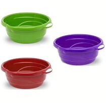 Bacia De Plastico Redonda Colors Com Alca 5,2L 11,5X33Cm De Ø - Rischioto