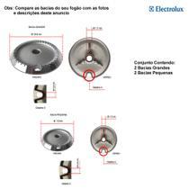 Bacias em alumínio electrolux para fogões 4 bocas 52 gp - Electrolux 52 Gp