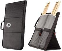 Bag de Baquetas Sabian Sitck Flip SSF11 Black Grey com Fixação no Chão -